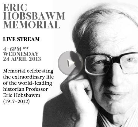 Eric Hobsbawm-Memorial Live Stream