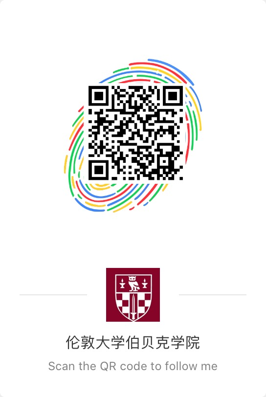A QR code to help prospective Birkbeck students.
